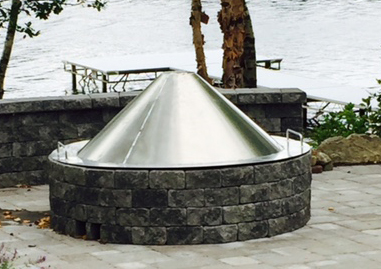 Boudreaus custom fire pit cover fabrication