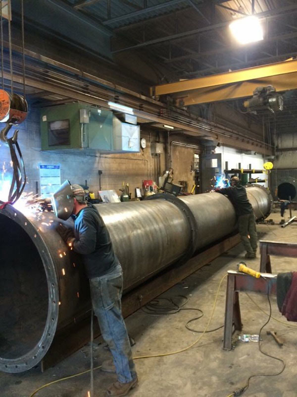 Boudreau's Welding Boiler Smoke Stack Fabrication