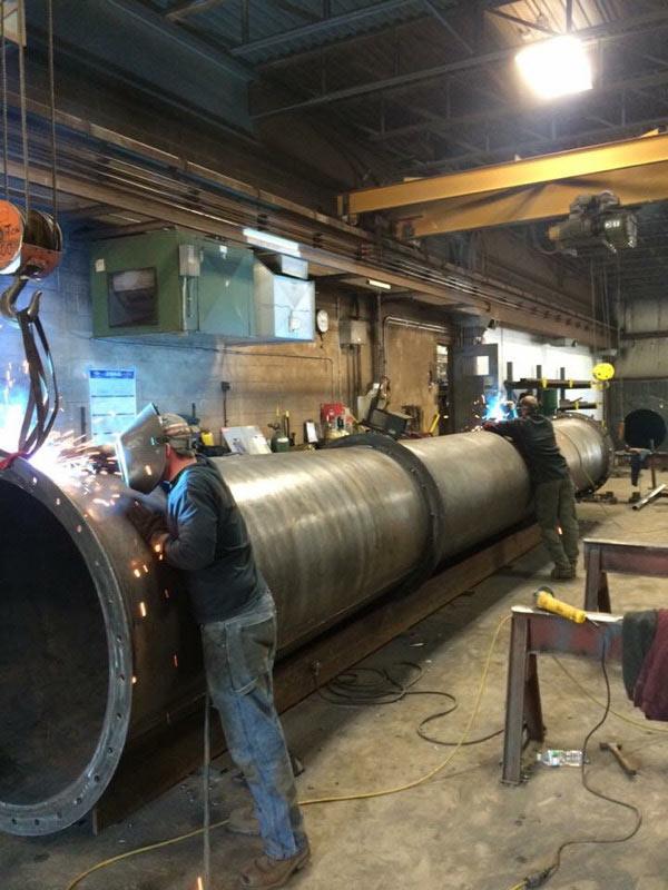 Boudreau's Welding Boiler Smoke Stack Fabrication